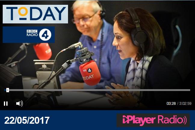 James talks talks about Box Tree Moth Infestation on Radio 4's Today program