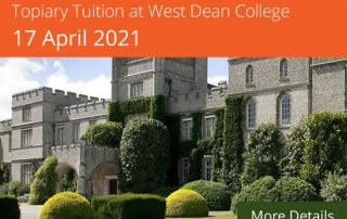topiary tution courses west dean college